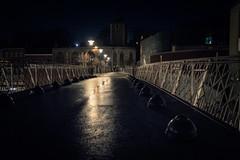 La Passerelle des espions... (The Bridge Of Spies) (Gilderic Photography) Tags: street city cinema reflection silhouette mystery night canon lights belgium belgique belgie cinematic liege nuit ville passerelle g7x gilderic
