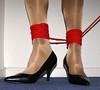 Rope bondage (colleen_ni00) Tags: bondage rope tranny transvestite heels crossdresser shinytights