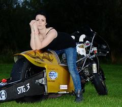 Holly W_7029 (Fast an' Bulbous) Tags: santa woman hot sexy girl bike race speed drag golden pod nikon power boots gimp fast babe chick strip hour motorcycle biker suzuki brunette d7100