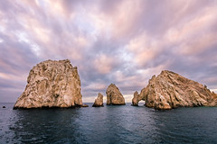Sun Painted Colors at Sunrise at Land's End (jeff_a_goldberg) Tags: mexico landsend bajacaliforniasur mx hdr cabosanlucas seabird seaofcortez gulfofcalifornia elarco nationalgeographicexpeditions nationalgeographicseabird archofcabosanlucas