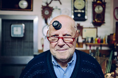 The Watchmaker (Leonel Saya Fotografa) Tags: old glass canon oldman workshop pancake 40mm magnifying clockmaker watchmaker 5dmk3