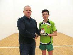Boys U14 Final Winner Presentation Cahir Munroe