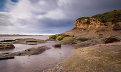 Vibrant (Rohit KC Photography) Tags: longexposure sea sky beach water clouds canon vibrant edited pacificocean le halfmoonbay canon24105mmf4l canon5dmarkii