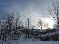 Sur la colline (Amiela40) Tags: house snow landscape high calm maison colline haut hauteur