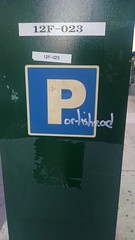 P ortishead (daswsup) Tags: street art philadelphia chinatown tag portishead parking marker philly meter dummy ppa