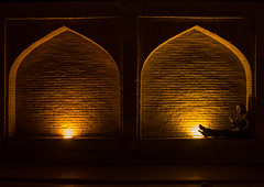 man resting under an arch at si-o-seh bridge, Isfahan Province, isfahan, Iran (Eric Lafforgue) Tags: city travel bridge people urban man reflection building men tourism horizontal architecture night buildings outdoors photography reading persian asia arch iran middleeast bridges engineering persia arches landmark architectural illuminated civil iranian centralasia esfahan adultsonly oneperson isfahan middleeastern menonly youngadultman ispahan siosehpol  onemanonly  siosehbridge 1people  iro isfahanprovince  unrecognizableperson colourpicture polesioseh  hispahan iran034i3732