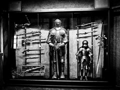 Knights and armor! (Halibel14) Tags: blackandwhite pen lens lumix prague olympus armor knight czechrepublic weapons praguecastle prazskyhrad epl1