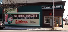Weinberg Pankonin Sign - Repainted 2015 (Roadtrip-'62) Tags: sign williams michigan painted icecream drugstore 1950 weinberg saginaw courtst pankonin michiganav