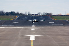 Touch n Go (Al Henderson) Tags: england airport unitedkingdom aviation bedfordshire gb piper runway cranfield pa28 gharn
