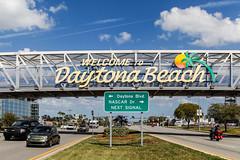 Welcome to Daytona Beach (Michael Erhardsson) Tags: street travel usa beach car sign highway driving boulevard florida international bil gata daytona speedway resa skylt 2015 infart ankommer bilvg biltrafik