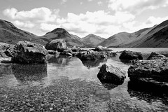 Wastwater (plot19) Tags: uk england blackandwhite lake mountains english water rock landscape photography blackwhite rocks northwest britain sony north lakes lakedistrict hills cumbria western british northern wast rx100 plot19