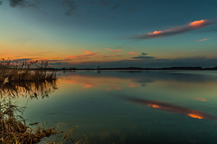 Nature's equilibrium (piotrekfil) Tags: sunset sky lake nature water clouds reflections landscape pentax dusk poland waterscape piotrfil
