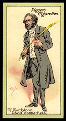 Cigarette Card - Mr Murdstone (cigcardpix) Tags: vintage advertising ephemera dickens cigarettecards