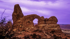 Turret Arch (woodchuckiam) Tags: sky color rock landscape arch scenic archesnationalpark rockformation turretarch windowssection woodchuckiam