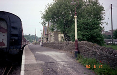 Bitton station (10), 1990 (Blue-pelican-railway) Tags: film station bristol closed railway gloucestershire bitton beeching