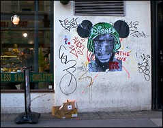 Endless Disney - DSC00794a (normko) Tags: street west london art up wall mouse graffiti mural paste soho disney mickey end endless