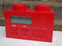Funky Red Lego Brick Shaped Clock Radio (beetle2001cybergreen) Tags: red brick clock radio lego shaped funky
