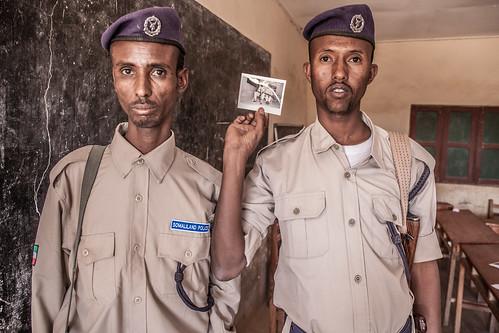 Somaliland Police like Polaroids