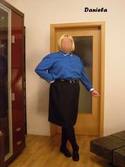 Day by Day (Daniela Hausfrau) Tags: rock tv skirt crossdressing blouse sissy tranny conservative secretary crossdresser bluse transe sekretärin tvgirl sissygirl konservativ