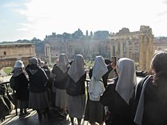 Nuns at Roman Forum overlook, Rome, Italy (Paul McClure DC) Tags: people italy rome roma architecture italia historic lazio feb2016