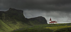 The Church in Vik, Iceland - D8C_9320 (Viggo Johansen) Tags: mountains green church clouds iceland vik fields gras