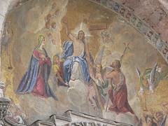 VENEZIA - Basilica San Marco/Mosaic on the facade: Jesus Christ between Virgin Mary and St.John the Evangelist (Andra MB) Tags: italien venice italy vacances italia urlaub venezia venedig italie venetia 2015 vacanta concediu