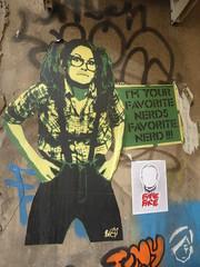 I'm your favorite nerd's favorite nerd! (duncan) Tags: streetart nerd stencil shoreditch