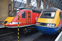 DSC_1419 London Kings Cross Railway Station Virgin/Stagecoach coalition took over the East Coast Mainline with a 39 year old train from 1977 borrowed diesel locomotive Class 43 HST # 43066 from East Midlands Trains. Virgin has promised new trains by 2018! (photographer695) Tags: from new old london station by train coast with cross diesel year over railway trains class east virgin kings locomotive coalition 1977 took 39 has 43 borrowed midlands promised hst 2018 mainline 43066 virginstagecoach