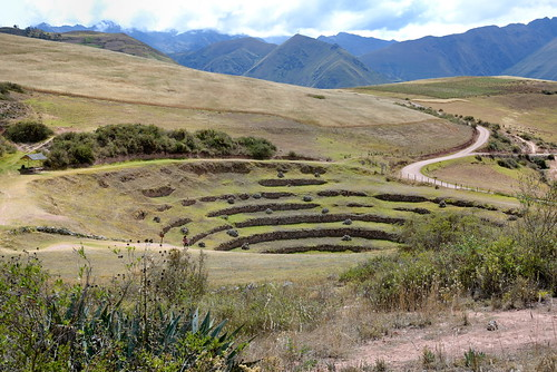 Circular terraces at Moray Inca site in Peru-04 5-26-15
