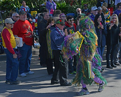 Mossi Gras Man (BKHagar *Kim*) Tags: people green gold beads moss colorful purple neworleans crowd parade nola mardigras kreweoftucks bkhagar mossigrasman mardigrassaturday