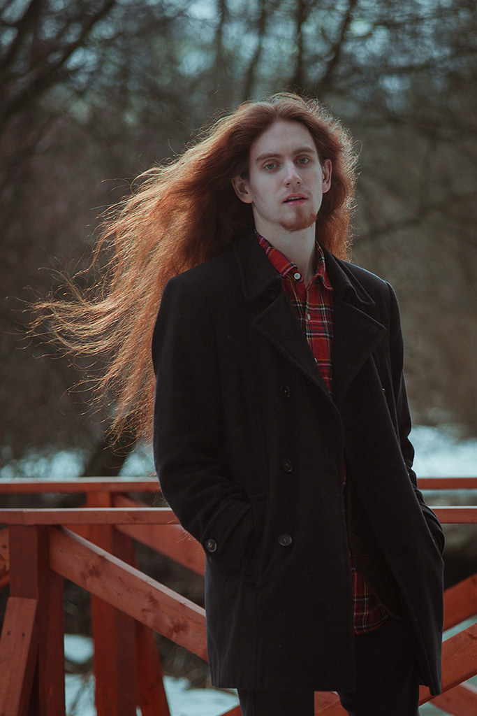 Redhead men with long hair