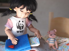 Getting Ready for School (Jay Bird Finnigan) Tags: glass soft panda casting wwf haru adori eyeco harucasting