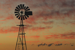 Rural Sunset (Alan McIntosh Photography) Tags: sunset colour windmill silhouette downs landscape farm darling toowoomba