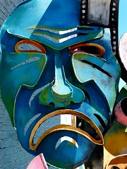 Blue Mask (e r j k . a m e r j k a) Tags: mask pennsylvania mercer figure roadside grovecity i79pa pa208 erjkprunczyk