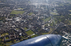 The River Cam and King's College (Beth Hartle Photographs2013) Tags: cambridge aerial duxford kingscollege dehavilland rivercam imperialwarmuseum kingscollegechapel iwm dragonrapide dhrapide historicaircraft classicwingsflight