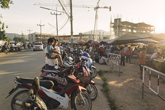 Market Mayhem (tylerkingphotography) Tags: travel sunset food bike lens landscape thailand photography tents nikon southeastasia photographer market drink outdoor father motorcycles kingdom son explore backpacking thai flare motorcycle vehicle kit 1855mm traveling phuket amateur merchants motorbikes andamansea naiyangbeach sakhu d3100