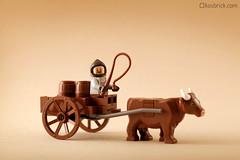 Small Wagon (kosbrick) Tags: china city classic vintage indonesia wagon cow town lego chinese newyear moc