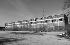 A Lengthy Exploration (Abandoned Illinois) Tags: windows sky bw white black abandoned broken glass concrete hotel illinois inn long decay motel days spooky and decrepit
