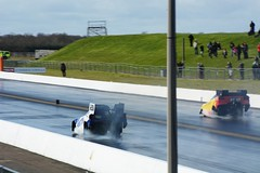 Two holed blocks :( (Fast an' Bulbous) Tags: santa england cold car race racecar speed drag march spring pod nikon automobile track power outdoor gimp fast strip vehicle motorsport dragster acceleration d7100