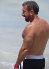 IMG_1186 (danimaniacs) Tags: shirtless man hot sexy guy beach pecs beard back beefy trunks swimsuit stud scruff mansolo