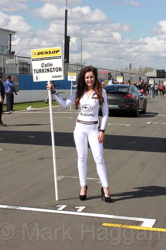 Coin Turkington's grid board during the BTCC Donington Weekend, April 2016
