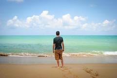 Mirando al mar (SuSa Saez Vergara) Tags: blue boy sea sky man azul thailand mar sand horizon tailandia arena cielo chico gazing infinito gaze infinite hombre horizonte mirando