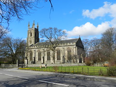 St Rufus Kirk, Keith, Morayshire, April 2016 (allanmaciver) Tags: trees windows tower classic clock church st scotland shadows large style keith rufus kirk moray morayshire a96 1816 allanmaciver