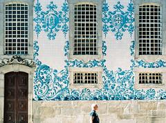 . (plexus solaire) Tags: travel man film portugal church mediumformat solitude alone porto fujifilm 120mm 400h mamiya645protl