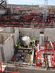 Installing one of the smaller water detritiation tanks weighing approximately 5 tonnes in ITERs Tritium building (Fusion for Energy) Tags: project big nuclear fusion f4e iter