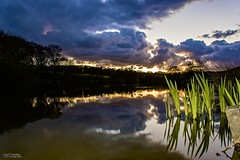 Cloudy Waters (Carl Yeates) Tags: sunset clouds canon pond carrmill 550d carlyeates
