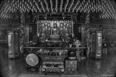 Temple  Jeju (misterblue66) Tags: bw noiretblanc buddha korea bouddha nb bn jeju budda hdr buda core photomatix photomatixpro chesu