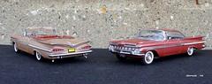 1959 Chevrolet Impala Convertible & Hardtop Sport Coupe (JCarnutz) Tags: chevrolet impala 1959 diecast 124scale danburymint wcpd