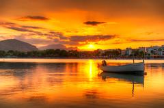 Port DAlcudia_Mallorca_Spain (NicoTrinkhaus) Tags: ocean sunset sea orange sun reflection beautiful skyline port landscape photography harbor boat spain meer mediterranean sonnenuntergang romantic hafen landschaft mallorca schiff hdr spanien majorca alcudia balearic mittelmeer alcdia hdrphotography dalcudia sumfinity