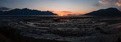 Dipping the arctic ocean (afloden) Tags: panorama sun mountain sol norway no horizon midnightsun fjell ebb fjære troms midnattsol naturalphenomenon horisont ebbtide naturfenomen kåfjord